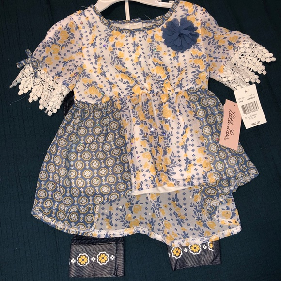 Navy 2 piece outfit size 2T NWT
